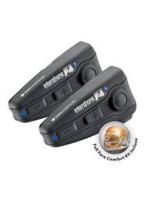 Interphone F4 Bluetooth Helmet Headset Twin Pack  - INTERPHONEF4TPPL