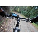 iPhone case on bike in action